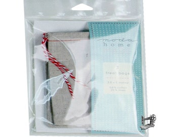 Muslin/Linen Drawstring Favor Bag Set of 3 by Moda Home 999 44 SML