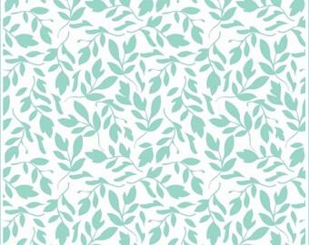SALE Primrose Garden Aqua Leaf Fabric by Carina Gardner for Riley Blake Designs C4043 PER yard