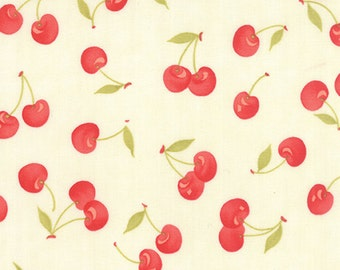 1/2 yd Farmhouse Floral Vintage Cherries by Fig Tree & Co for Moda Fabrics 20251 14 Milk