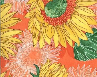 Solana Sunflowers Fabric Clementine // Moda Fabrics 48680 18 by the Half Yard