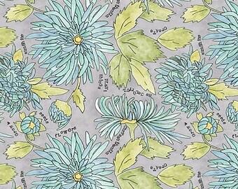 Potpourri Chrysanthemums Fabric Caprice // Laura Heine // Windham 51655-5 by the  Half Yard