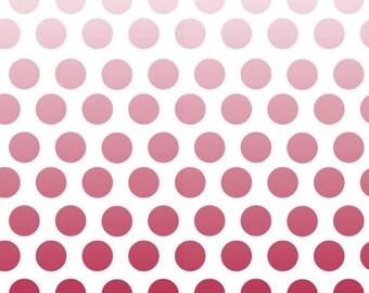 SALE Riley Blake Ombré Dots Fabric on Cream C310 80 Red PER yard