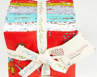 FREE SHIPPING Little Apples by Aneela Hoey for Moda - Fat Quarter Bundle 18510 OOP