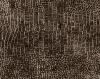 Tim Holtz Worn Croc Fabric // FreeSpirit PWTH020.HICKORY by the Half Yard