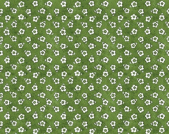 Painter's Palette Posey Fabric // Riley Blake C8941-GREEN by the Half Yard
