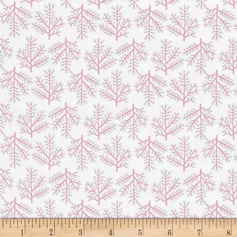 Isabelle Forest Fabric  Dena Designs  FreeSpirit PWDF249.PINKX by the HALF YARD