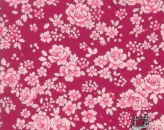 Regent Street Lawn Floral Fabric Claremont Burgundy // Moda Fabrics 33197 16 Claret by the HALF YARD