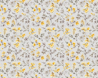 Fields of Gold Leaf Toss Fabric // Wilmington Prints 1409 86501 959 by the HALF YARD