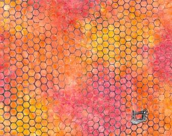 Tonga Batik Watercolor Circles Fabric // Timeless Treasures B5945 by the Half Yard