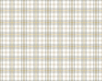 Fields of Gold Plaid Fabric // Wilmington Prints 1409 86503 195 by the HALF YARD