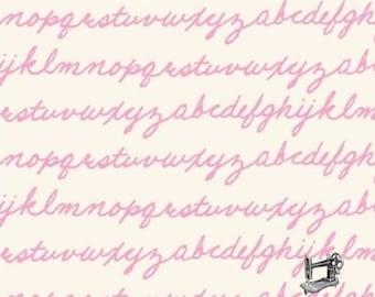 Notepad Alphabet Script Fabric // Windham Fabrics 42642-8 by the HALF YARD
