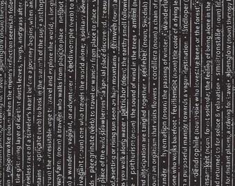 Smoke Rust Mountain Speak Text Fabric // Moda 5131 15 by the Half Yard