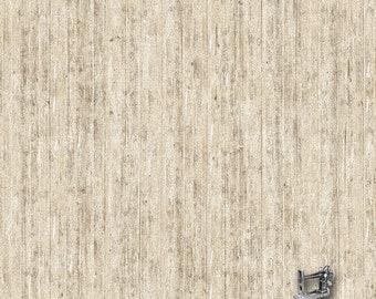 Bird Song Wood Fence Fabric // Northcott 22436-12 by the HALF YARD