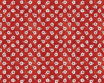 Painter's Palette Posey Fabric // Riley Blake C8941-RED by the Half Yard