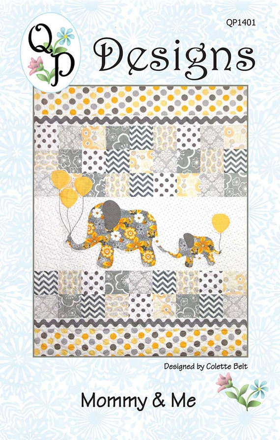 10-inch 3dRose Mom and Baby Elephant-Quilt Square qs/_195248/_1
