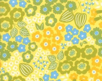 Lazy Days Floral Fabric // Gina Martin // Moda Fabrics 10070 13 by the HALF YARD