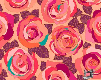 Mosaic Roses Fabric // Andover A-8880-E by the Half Yard