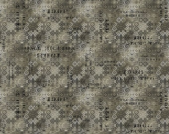 Tim Holtz Abandoned Faded Tile Fabric // FreeSpirit PWTH129.NEUTRAL by the Half Yard