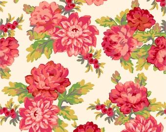 Sweet Beginnings Focal Floral Fabric // Maywood Studio MAS10010-E by the Half Yard