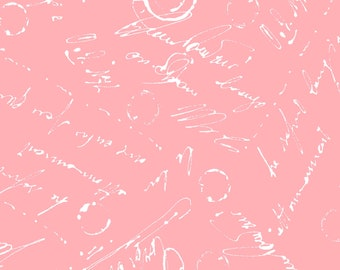 Chloe Script Fabric // Maywood Studio MAS9185-P by the HALF YARD