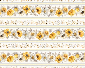 Fields of Gold Repeating Stripe Fabric // Wilmington Prints 1409 86497 195 by the HALF YARD