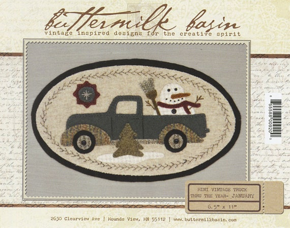 Mini Vintage Truck Thru The Year February