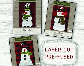 Snowfolk Fusible Applique // Laser Cut // The Whole Country Caboodle