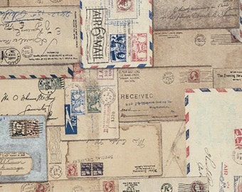 Tim Holtz Letter Fabric // FreeSpirit PWTH048-8NEU by the Half Yard