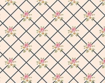 Gingham Farmhouse Lattice Fabric // Poppie Cotton by the Half Yard