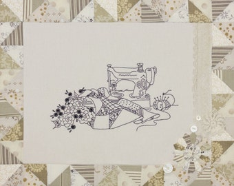 A Quilter's Dream Embroidery Pattern by Crabapple Hill/Meg Hawkey #280