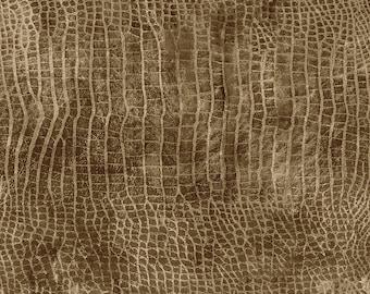 Tim Holtz Worn Croc Fabric // FreeSpirit PWTH020.MURKY by the Half Yard