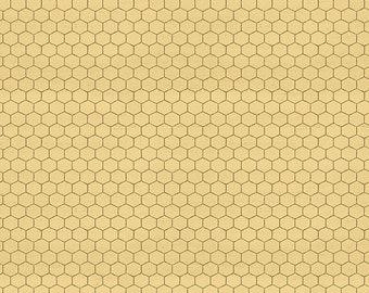 Bee's Life Honeycomb Honey Fabric // Riley Blake Designs C10104 by the HALF YARD