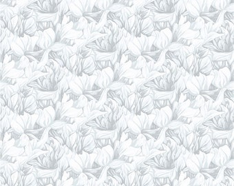 Misty Meadows Packed Petals Fabric // Clothworks Y2585 116 by the Half Yard
