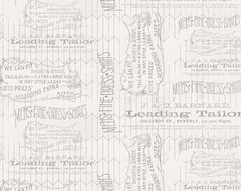 Tim Holtz Monochrome Tailored Fabric // FreeSpirit PWTH066.LINEN by the Half Yard