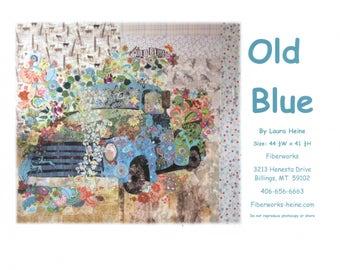 Old Blue Vintage Truck Collage Quilt Pattern by Laura Heine for Fiberworks LHFWOB