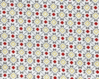 You & Me Point Check Fabric Red // Adornit 00582 by the Half Yard