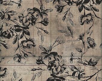 Tim Holtz Regions Beyond Beloved Fabric // FreeSpirit PWTH149.NEUTRAL by the Half Yard