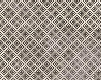 Tim Holtz Monochrome Diamonds Fabric // FreeSpirit PWTH030.CHARCOAL by the Half Yard