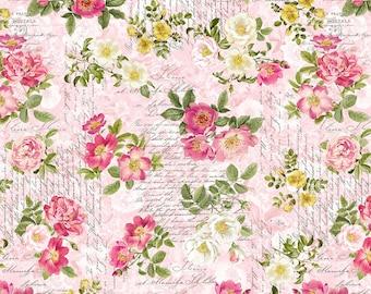 La Vie En Rose La Rose Fabric // Michael Miller DCX9626 Petal by the HALF YARD