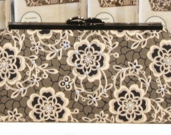 DIY Downton Abbey Rose Modern Clutch Kit Pink Sand Beach Designs #232