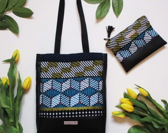 Bag Tote weaving black Africa""