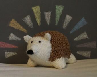 Knit Stuffed Hedgehog (New!)