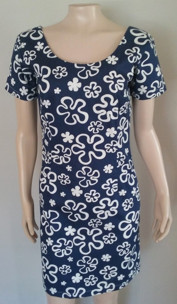 60's Mid Century Mod Mini Dress / Go Go Dress / Ma