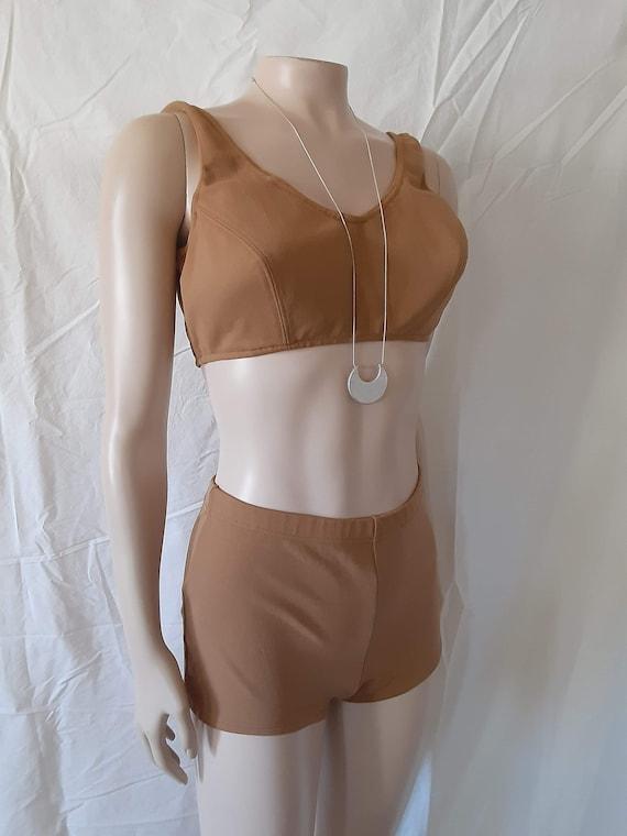 Vintage 1960's Nude Bikini Mid Century Bikini 60's