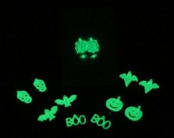 Halloween Earrings GLOW In the DARK, FSL Glow in the Dark Earring, Glow in the Dark Halloween, Halloween Earrings,