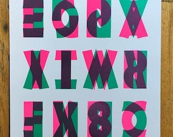 Visual Poetry Italian Type Print