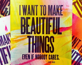 Beautiful Things Letterpress Print (One-of-a-Kind)