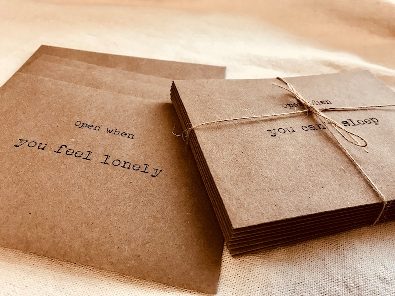 Long Distance relationship envelopes & note cards - Open when envelopes and  note cards - open when letters - long distance letter- love card