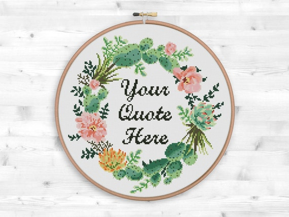 Sappige Krans Cross Stitch Patroon Bloemen Krans Inspirerende Etsy