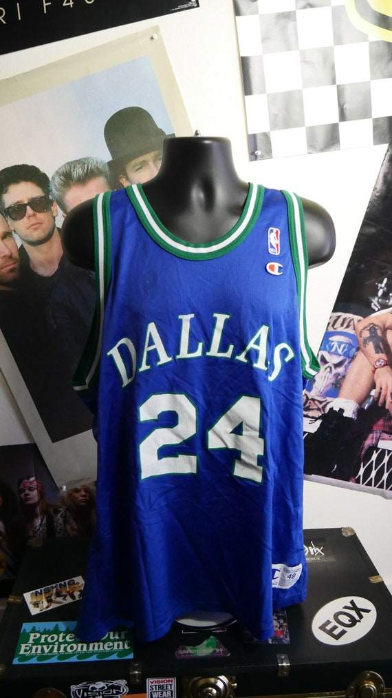 90s Dallas Mavericks Jim Jackson 24 Vintage NBA Basketball  8d70fba4d